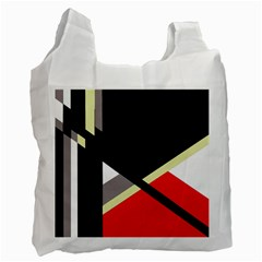 Red and black abstraction Recycle Bag (One Side)
