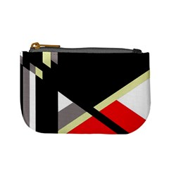 Red and black abstraction Mini Coin Purses