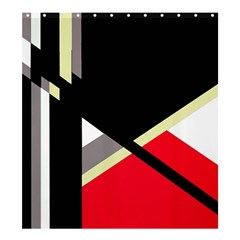Red and black abstraction Shower Curtain 66  x 72  (Large)