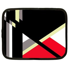 Red and black abstraction Netbook Case (XXL)