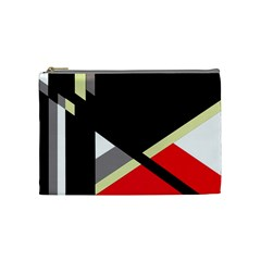 Red and black abstraction Cosmetic Bag (Medium)