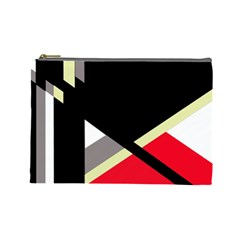 Red and black abstraction Cosmetic Bag (Large)