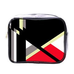 Red and black abstraction Mini Toiletries Bags