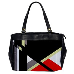 Red and black abstraction Office Handbags