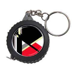 Red and black abstraction Measuring Tapes