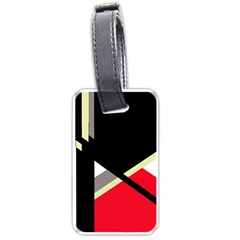 Red and black abstraction Luggage Tags (One Side)
