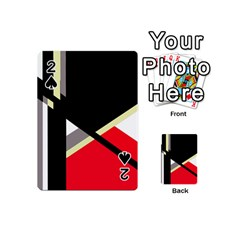 Red and black abstraction Playing Cards 54 (Mini)