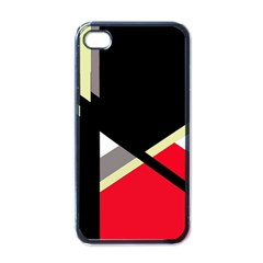 Red and black abstraction Apple iPhone 4 Case (Black)