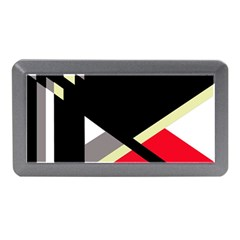 Red and black abstraction Memory Card Reader (Mini)