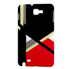 Red and black abstraction Samsung Galaxy Note 1 Hardshell Case