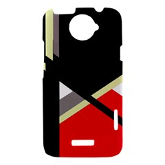 Red and black abstraction HTC One X Hardshell Case
