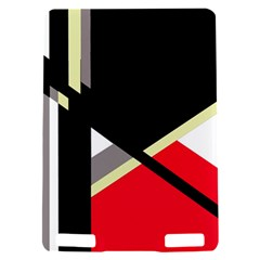 Red and black abstraction Kindle Touch 3G