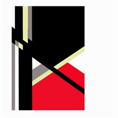 Red and black abstraction Large Garden Flag (Two Sides)