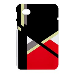 Red and black abstraction Samsung Galaxy Tab 7  P1000 Hardshell Case