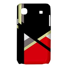 Red and black abstraction Samsung Galaxy SL i9003 Hardshell Case