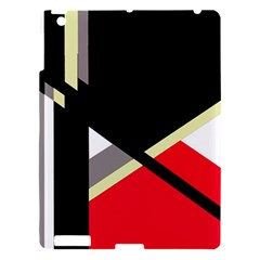 Red and black abstraction Apple iPad 3/4 Hardshell Case