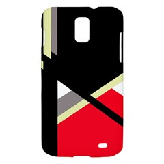 Red and black abstraction Samsung Galaxy S II Skyrocket Hardshell Case