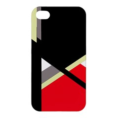 Red and black abstraction Apple iPhone 4/4S Premium Hardshell Case