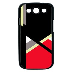 Red and black abstraction Samsung Galaxy S III Case (Black)
