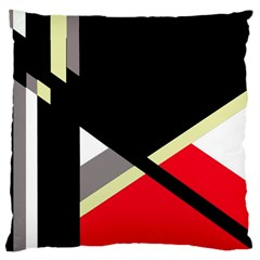 Red and black abstraction Large Cushion Case (Two Sides)