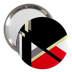 Red and black abstraction 3  Handbag Mirrors