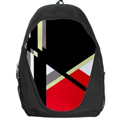 Red and black abstraction Backpack Bag