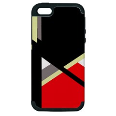 Red and black abstraction Apple iPhone 5 Hardshell Case (PC+Silicone)