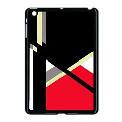 Red and black abstraction Apple iPad Mini Case (Black)