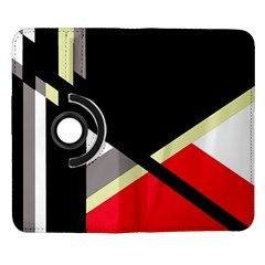 Red and black abstraction Samsung Galaxy Note II Flip 360 Case