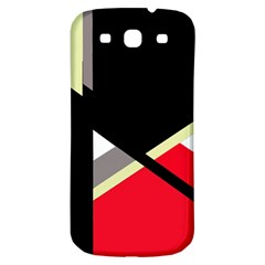 Red and black abstraction Samsung Galaxy S3 S III Classic Hardshell Back Case