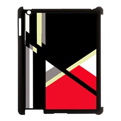 Red and black abstraction Apple iPad 3/4 Case (Black)