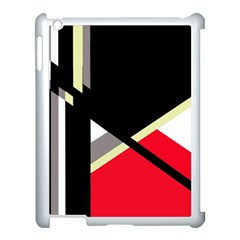 Red and black abstraction Apple iPad 3/4 Case (White)