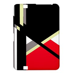 Red and black abstraction Kindle Fire HD 8.9