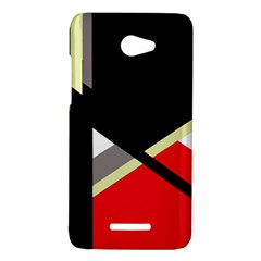 Red and black abstraction HTC Butterfly X920E Hardshell Case