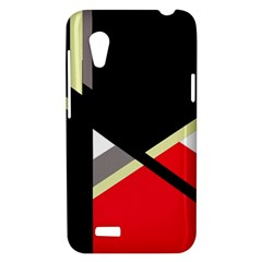 Red and black abstraction HTC Desire VT (T328T) Hardshell Case