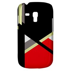 Red and black abstraction Samsung Galaxy S3 MINI I8190 Hardshell Case