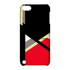 Red and black abstraction Apple iPod Touch 5 Hardshell Case with Stand