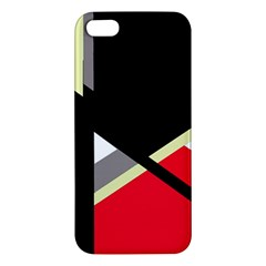 Red and black abstraction Apple iPhone 5 Premium Hardshell Case
