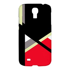 Red and black abstraction Samsung Galaxy S4 I9500/I9505 Hardshell Case