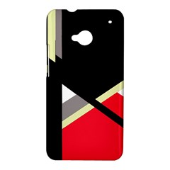 Red and black abstraction HTC One M7 Hardshell Case
