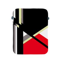 Red and black abstraction Apple iPad 2/3/4 Protective Soft Cases