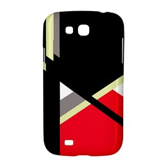 Red and black abstraction Samsung Galaxy Grand GT-I9128 Hardshell Case