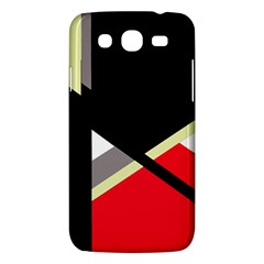 Red and black abstraction Samsung Galaxy Mega 5.8 I9152 Hardshell Case