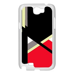 Red and black abstraction Samsung Galaxy Note 2 Case (White)