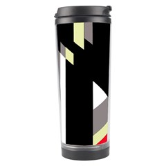 Red and black abstraction Travel Tumbler