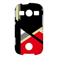Red and black abstraction Samsung Galaxy S7710 Xcover 2 Hardshell Case