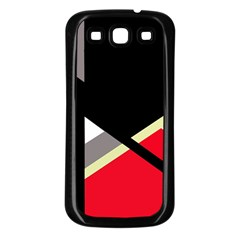 Red and black abstraction Samsung Galaxy S3 Back Case (Black)