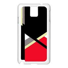 Red and black abstraction Samsung Galaxy Note 3 N9005 Case (White)
