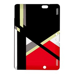Red and black abstraction Kindle Fire HDX 8.9  Hardshell Case