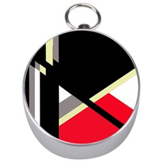 Red and black abstraction Silver Compasses